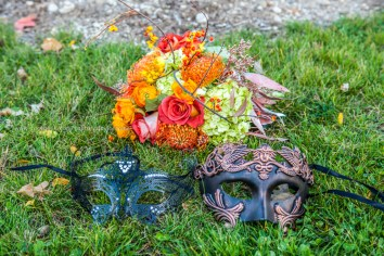 Fall Wedding Flower Mask