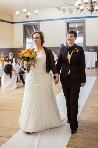 Wedding Bride Walk Aisle LGBT Gay