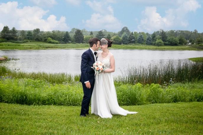 Morton Arboretum Wedding, Bride Groom Portrait.