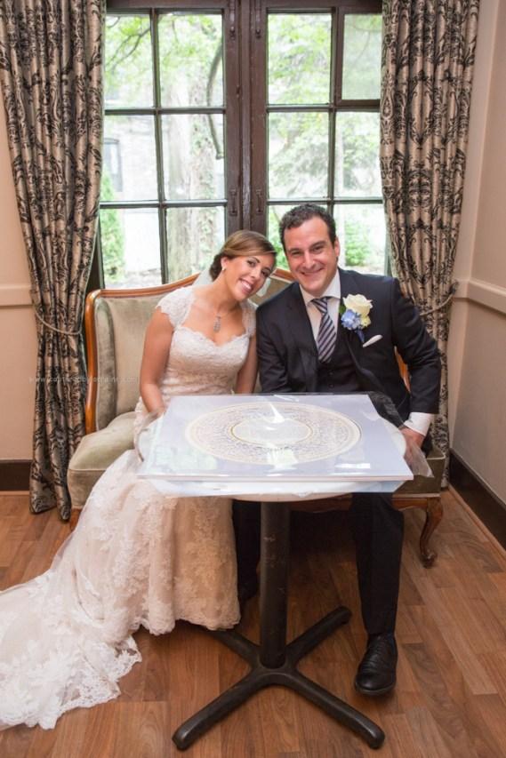 Bride Groom Ketubah, Chicago Wedding