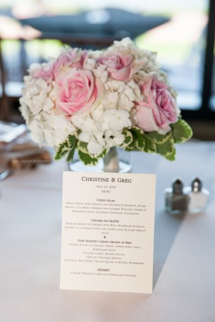 Wedding flower and menu