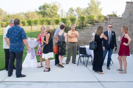 Wedding Guests mingle