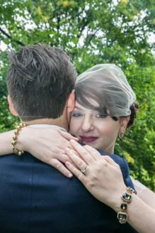 Morton Arboretum Wedding, Bride and groom ring