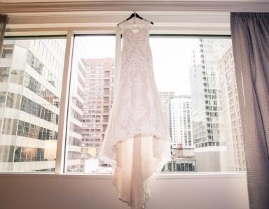 Wedding Dress window, Chicago Wedding