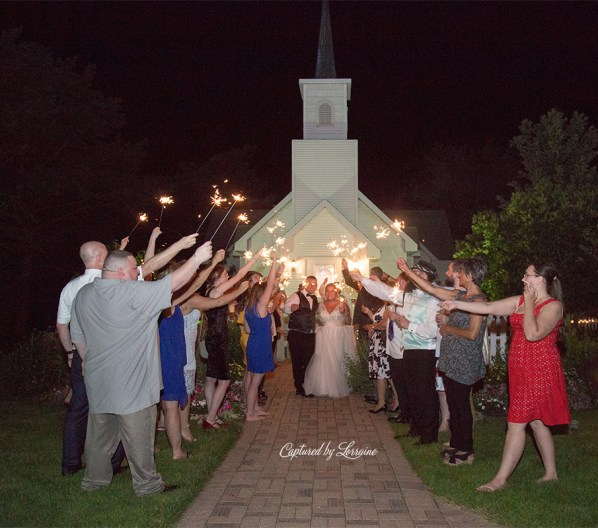 Chapel in the Pines Wedding Sparkler Exit-890