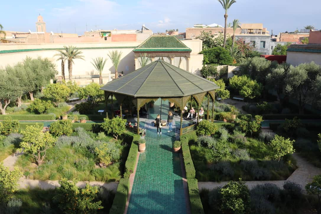 Le jardin secret marrakech view from above