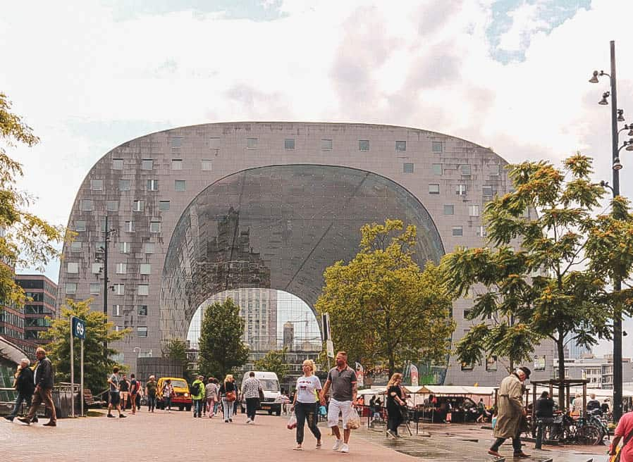The markthal building from the outside in Rotterdam