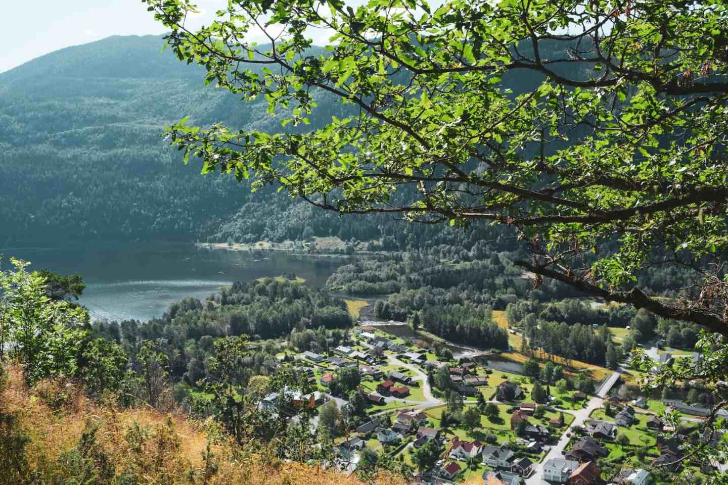 View from hike to Rui from Dalen in Norway