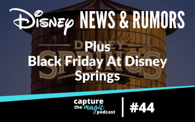 Ep 44: Disney World News & Black Friday at Disney Springs