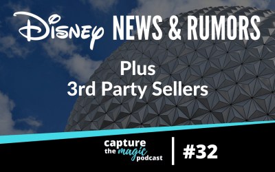 Ep 32: Disney World News and 3rd Party Sellers
