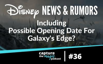 Ep 36: Disney World News, Rumors, & Hopes For A 5th Park?
