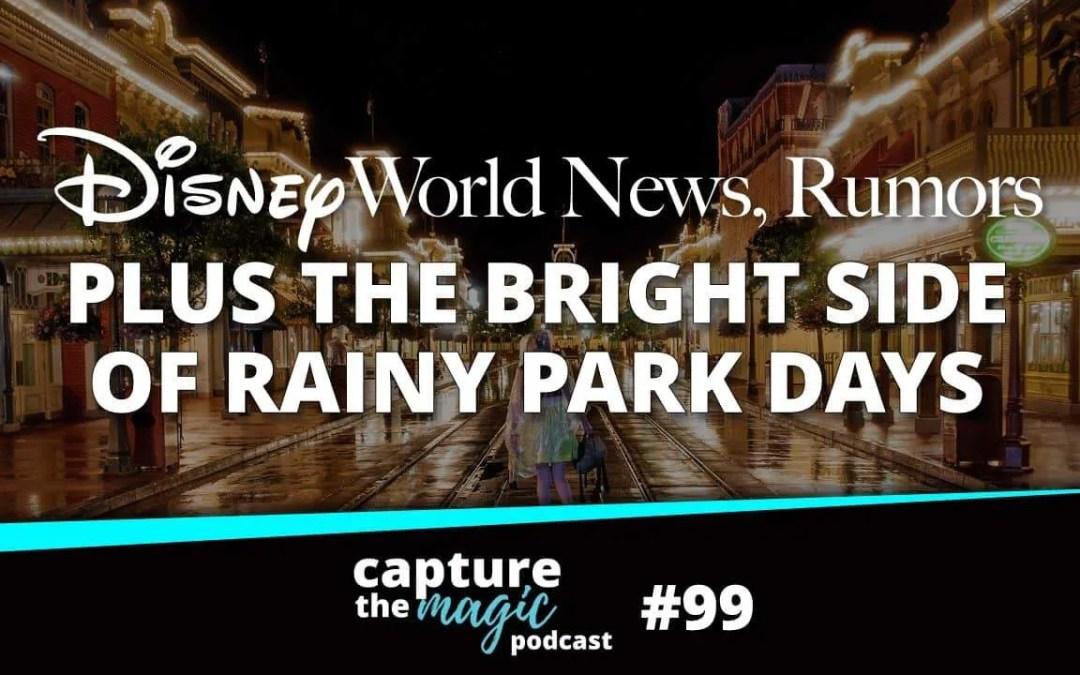 Ep 99: Disney World News + The Bright Side of Rainy Park Days