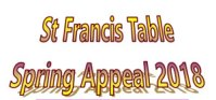 St Francis Table Spring 2018 appeal