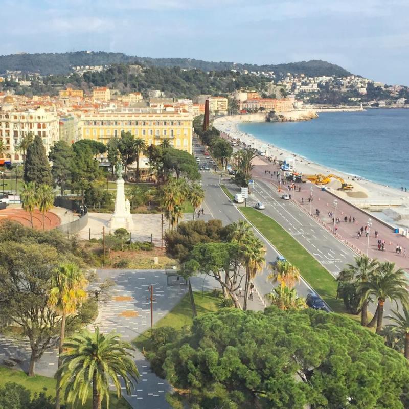 La vue de l' hôtel Le Méridien Nice © Capucineee.com