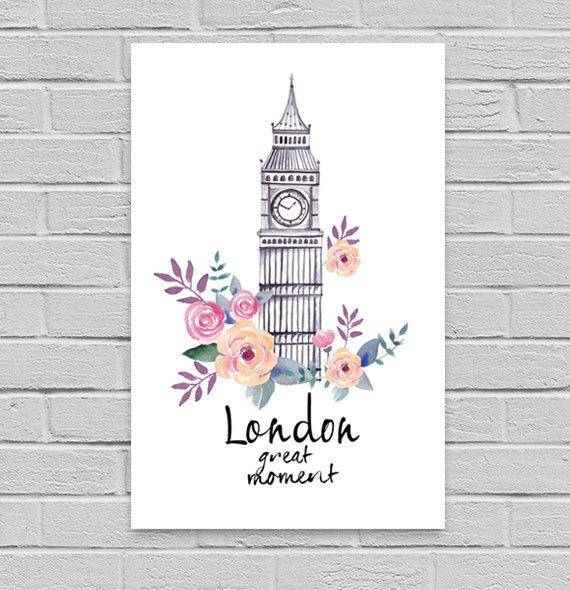 poster à imprimer Londres