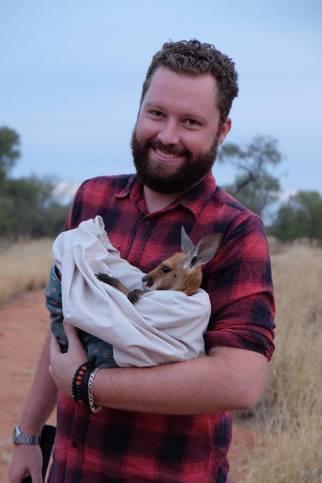 notre guide Steven sanctuaire kangourous alice springs