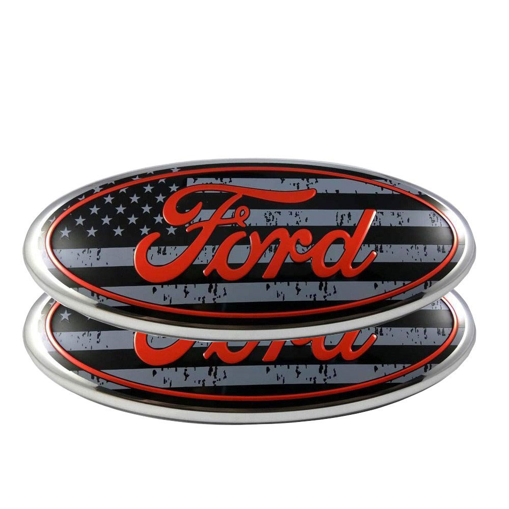 9/'/' American Flag FOR F150 Front Grille Emblem Oval Decal Badge Nameplate