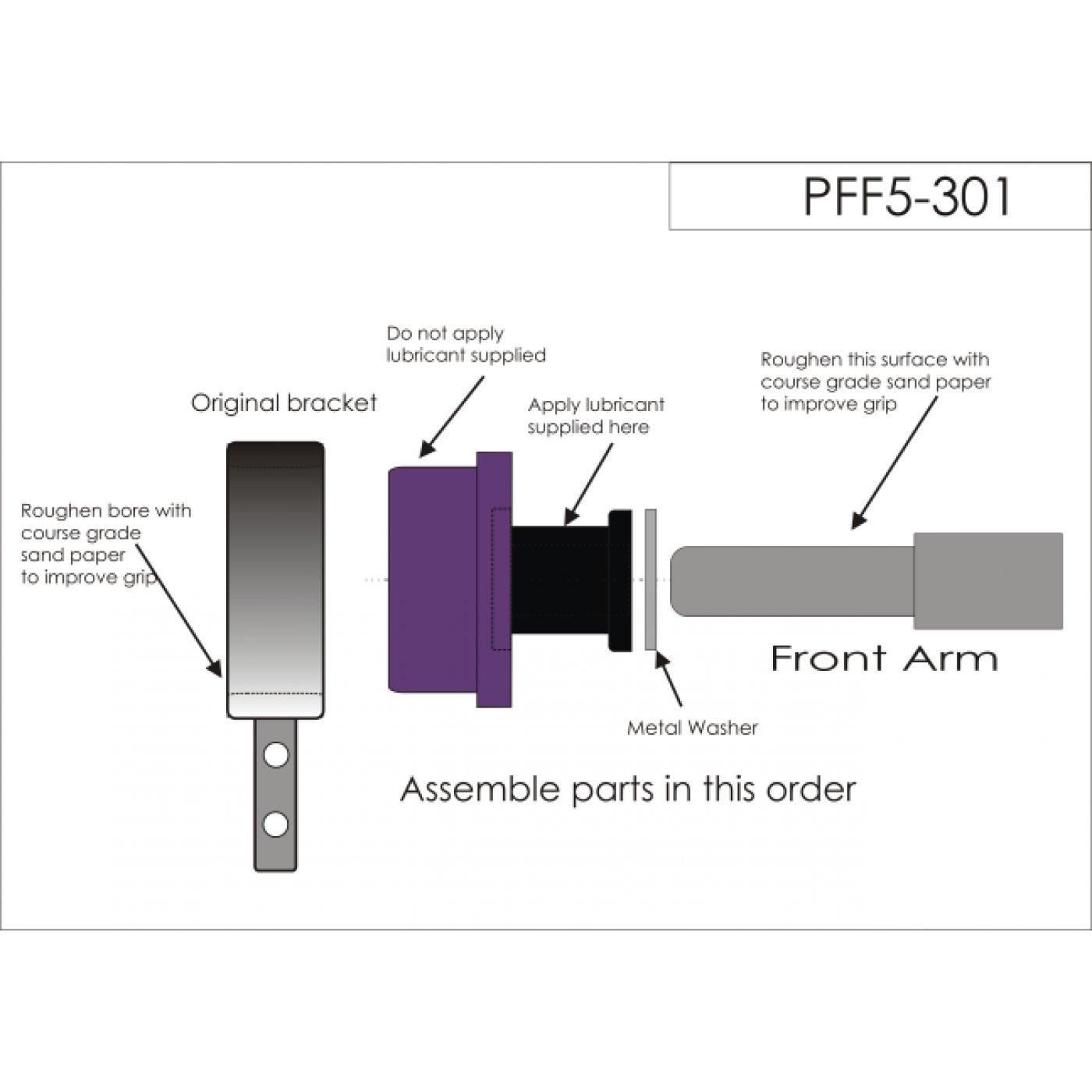Powerflex Pff5 301 Front Wishbone Bush Bmw E30 E36 Z1 Z3