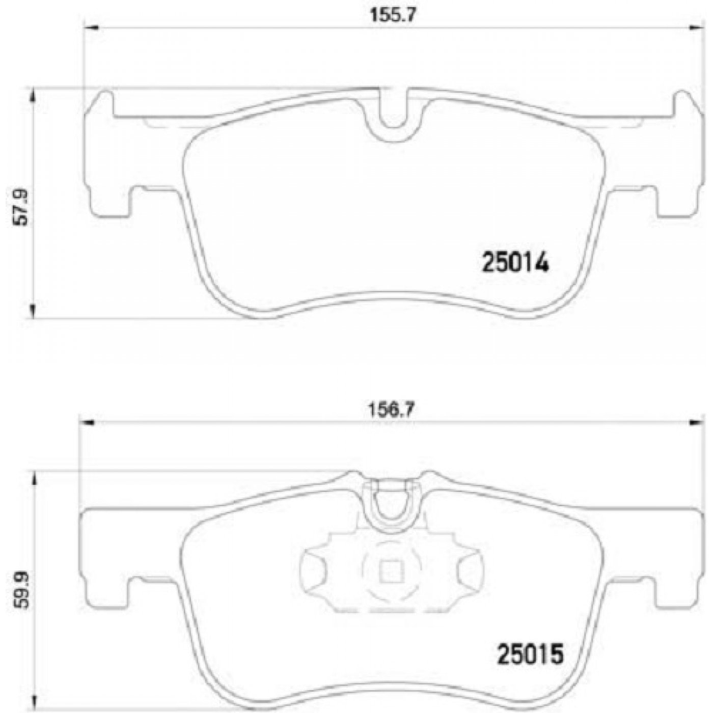 Brembo Brake Pads For Bmw F20 F21 With 284mm Brake Discs
