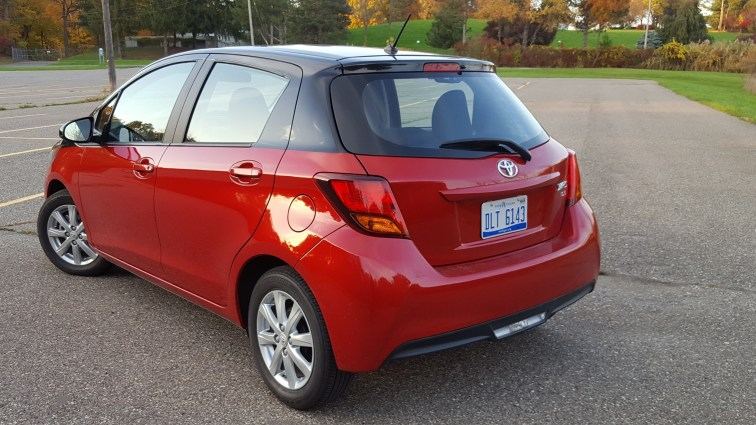 Toyota Yaris rear side angle