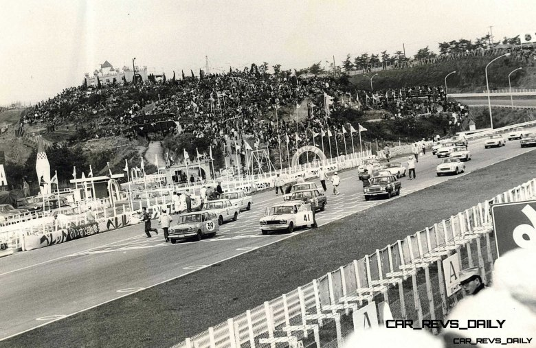 The Skyline GT Lined Up for the GT-II Race During the 1964 Japan Grand Prix at Suzuka