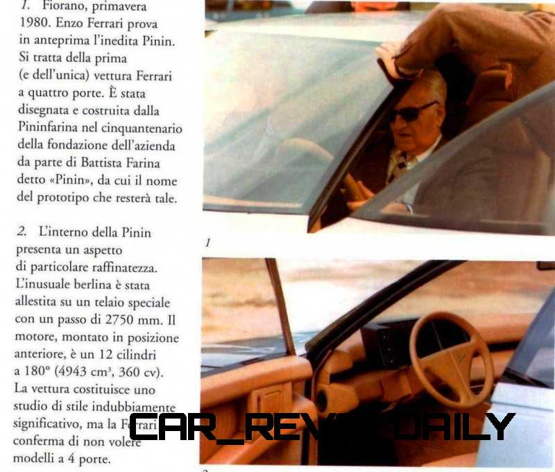 Most Copied 4-Door Never Made - 1980 Ferrari Pinin Concept 18
