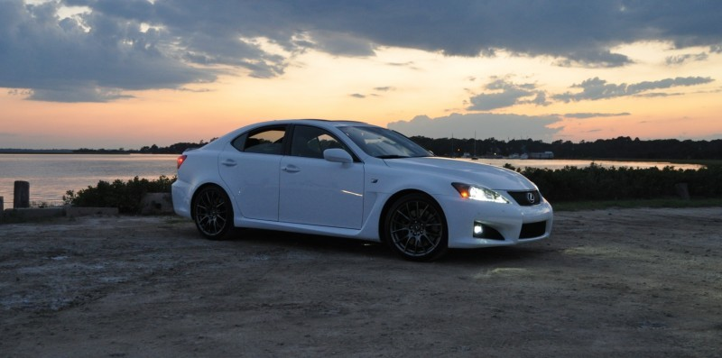 2014 Lexus IS-F Looking Sublime in Sunset Photo Shoot 5