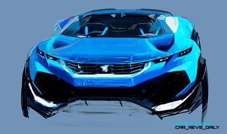 2014 Peugeot Quartz Concept Revealed Ahead of Paris Show 3