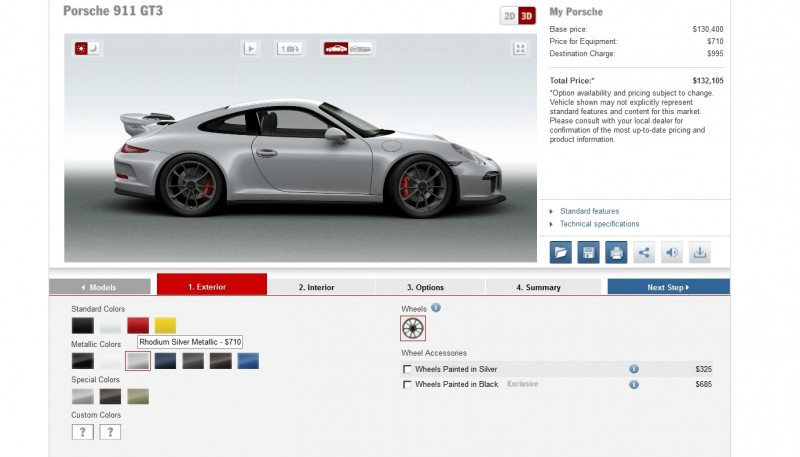 2014 Porsche 911 GT3 All Colors  11
