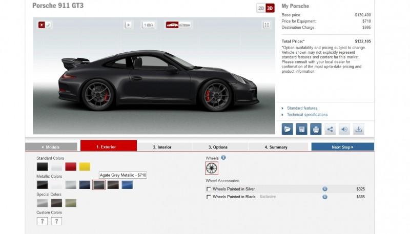 2014 Porsche 911 GT3 All Colors  13
