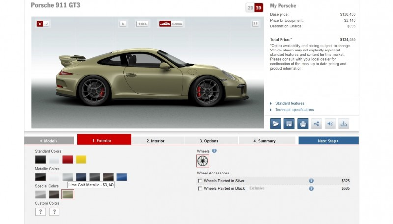 2014 Porsche 911 GT3 All Colors  16