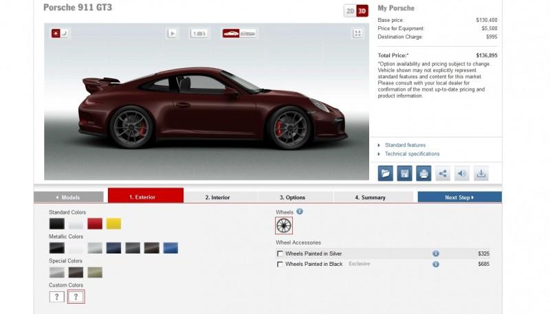 2014 Porsche 911 GT3 All Colors  20