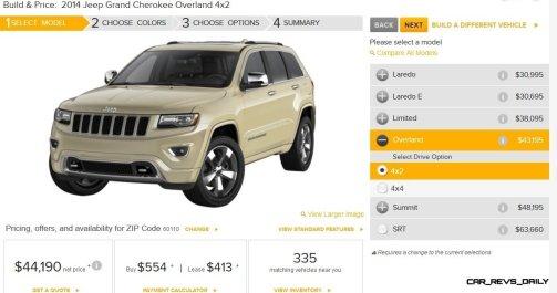2014 Jeep Grand Cherokee Summit, Overland and Ltd 2