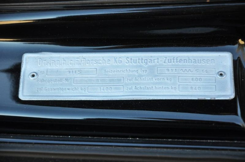 Black 1967 Porsche 911S Soft Window TARGA for sale in Raleigh NC 33