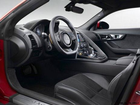 Jaguar Makes a WINNER! 2015 F-type Coupe INTERIOR4