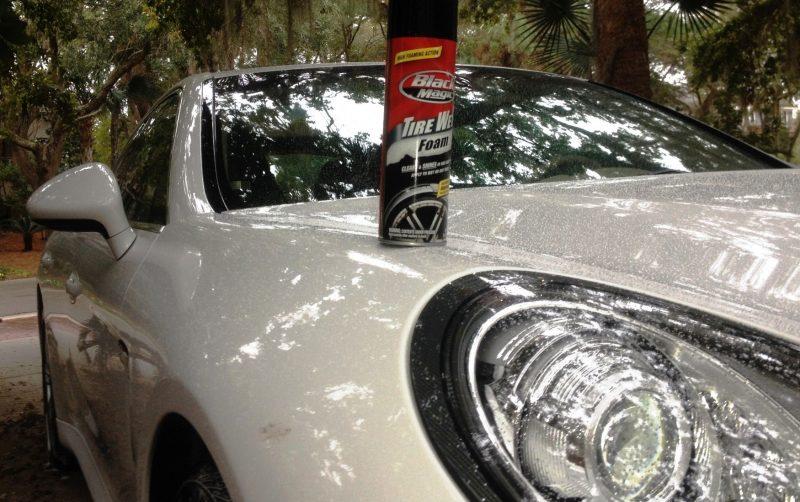 Car-Revs-Daily.com Recommends - Black Magic Tire Foam - Porsche Panamera S 22