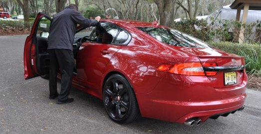 2014 JAGUAR XFR -- Driving Review with Full-Throttle Rolling Sprint + Exhaust Bellow 6