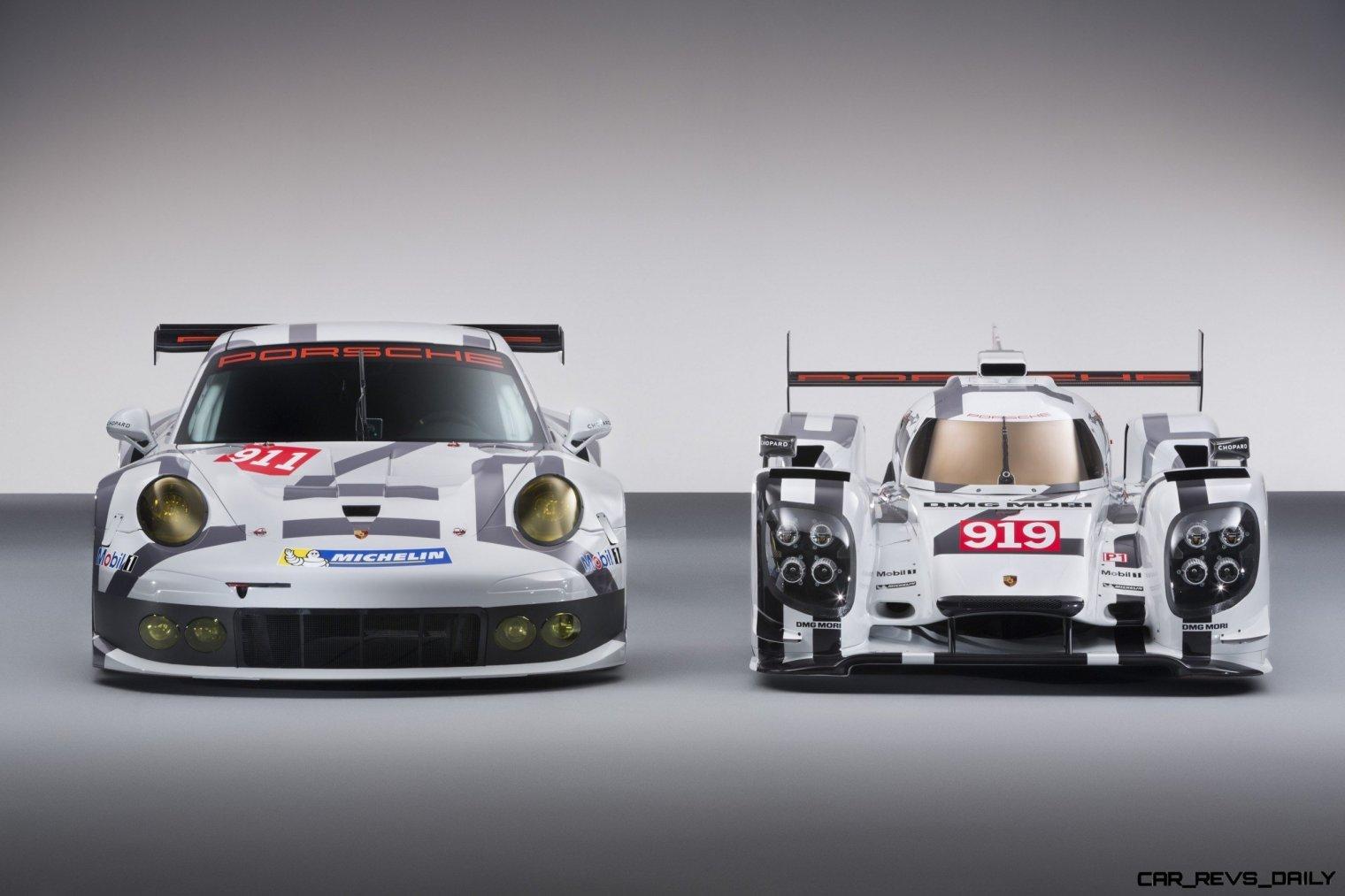 2014 Porsche Motorsport Worldwide- 919 Hybrid-911 RSR- Head-On