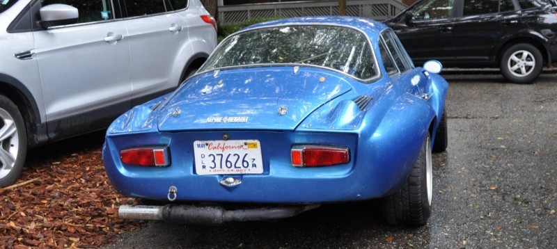Amelia Parking Lot Finds -- ~1960s (Renault) Alpine A110 -- On Cali Plates, Passenger Seat Full of Suitcases 1