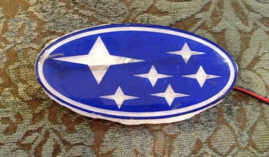 DIY LED Subaru stars emblem_8159088779_l