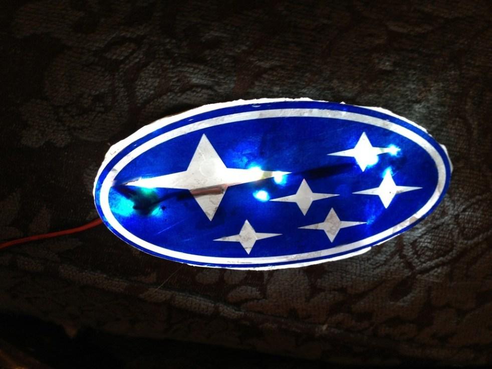 DIY LED Subaru stars emblem_8159121112_l