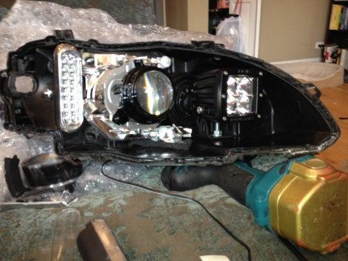 DIY headlights project - rigid industries LED highbeams_8007333846_l