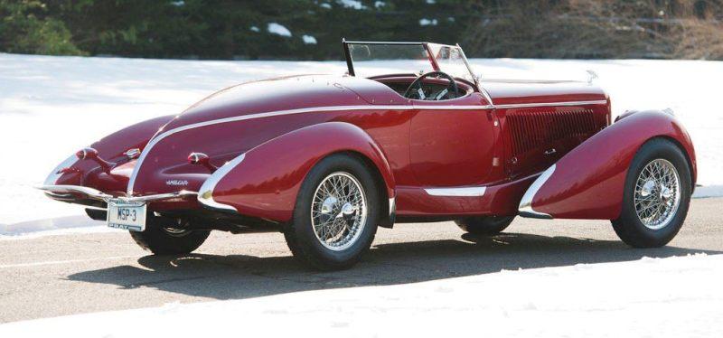 Video Walk-Around + 33 Photos -- 1935 Amilcar G36 Pegasé Boattail Roadster -- RM Auctions Amelia 2014 $467k 2