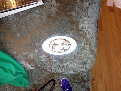 subaru DIY LED badge - indoor testing - emblem comparisons_8072293577_l