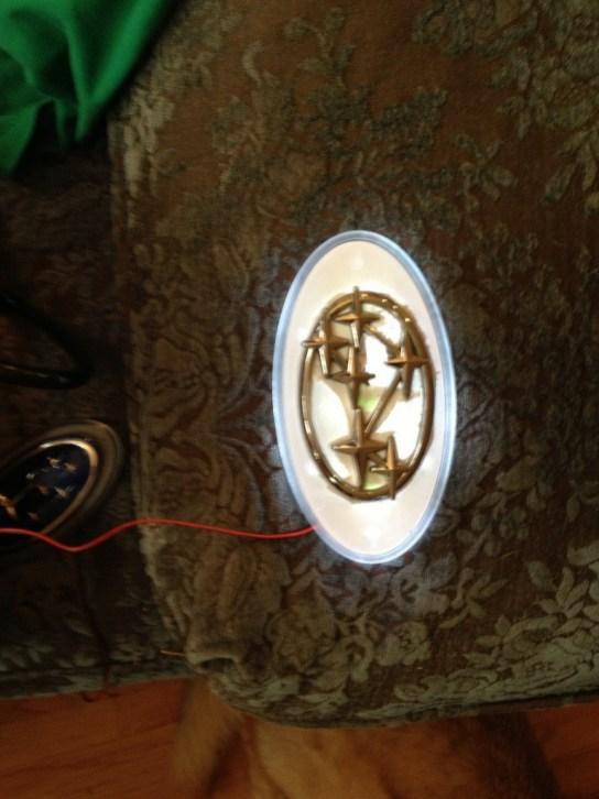 subaru DIY LED badge - indoor testing - emblem comparisons_8072294487_l