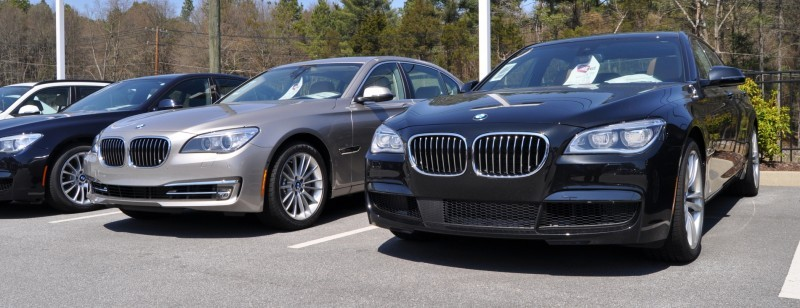 2014 BMW 750Li Definitely Not Beautiful or Focused -- But Less Adrift as SWB 750i with Squared-Off LED Lights Option 1