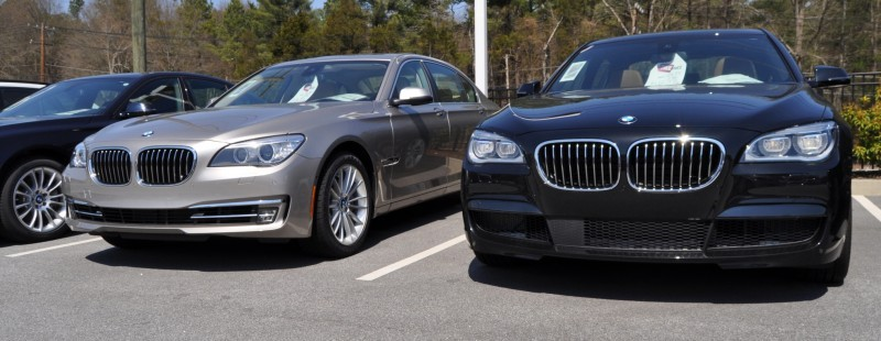2014 BMW 750Li Definitely Not Beautiful or Focused -- But Less Adrift as SWB 750i with Squared-Off LED Lights Option 2