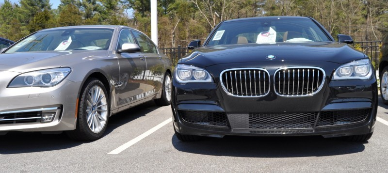 2014 BMW 750Li Definitely Not Beautiful or Focused -- But Less Adrift as SWB 750i with Squared-Off LED Lights Option 3
