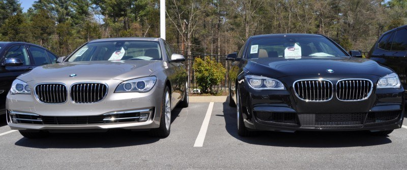 2014 BMW 750Li Definitely Not Beautiful or Focused -- But Less Adrift as SWB 750i with Squared-Off LED Lights Option 4
