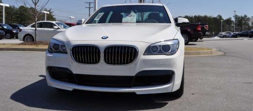 2014 BMW 750Li Definitely Not Beautiful or Focused -- But Less Adrift as SWB 750i with Squared-Off LED Lights Option 9